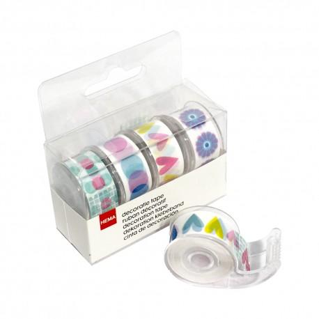 cinta adhesiva x 4 c/dispenser 17164