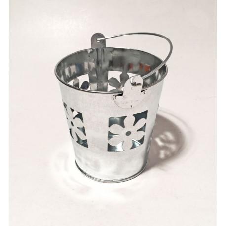 balde zinc flor 11cm alto 10 cm ancho 16999