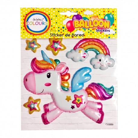 sticker globo unicornio 17771