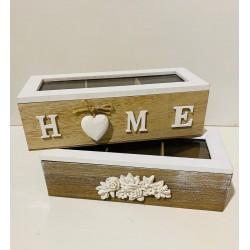 caja de madera p/ té ELG2930