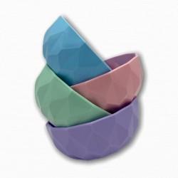 bowl plástico colores pastel chico 11 cm diámetro KE03