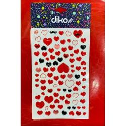 sticker corazoncitos R130147