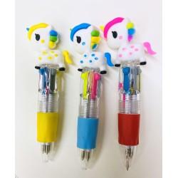 birome cuatro colores unicornio