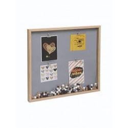 marco portarretrato con ganchitos pompón (42 x 45 cm) WDC42446