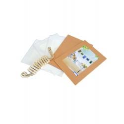 set colgante con broches 8 fotos mediano liso CF1057